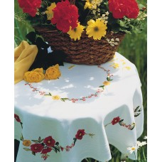 Embroidery Kit: Tablecloth: Poppies