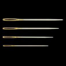 Hand Sewing Needles: Tapestry Needles: Gold Eye: Nos.18-22 (12)