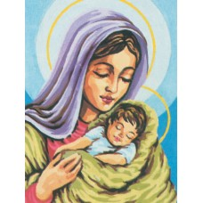 Printed Tapestry Canvas: Madonna and Child
