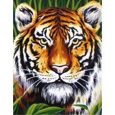 Printed Tapestry Canvas: Tiger