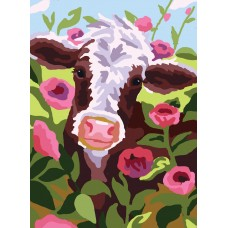 Printed Tapestry Canvas: Cow
