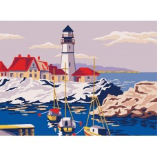 Printed Tapestry Canvas: Lighthouse