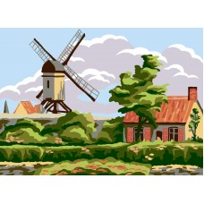 Printed Tapestry Canvas: Windmill Cottage