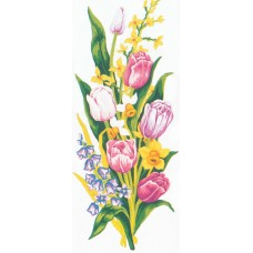 Printed Tapestry Canvas: Tulips