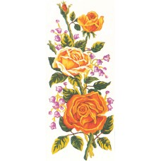 Printed Tapestry Canvas: Yellow Roses