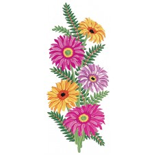 Printed Tapestry Canvas: Pink and Yellow Daisies