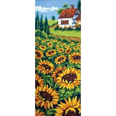 Printed Tapestry Canvas: Sunflower Field