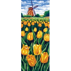 Printed Tapestry Canvas: Tulip Field