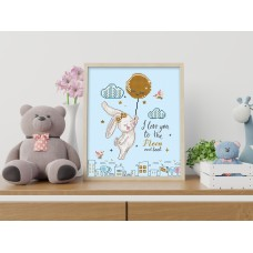 Diamond Painting Kit: Love You To The Moon & Back