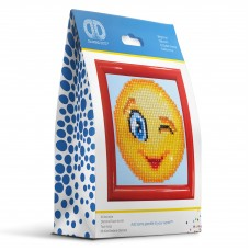 Diamond Painting Kit: Wink Wink: with Frame