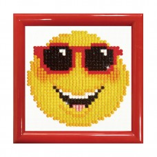 Diamond Painting Kit: Smiling Face: with Frame