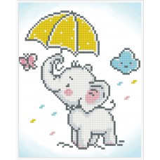 Diamond Painting: Finished Model: Baby Brollie