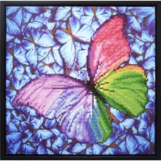 Diamond Painting: Finished Model: Flutterby Pink