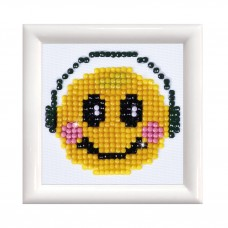 Diamond Painting Kit: Smiling Groove: with Frame