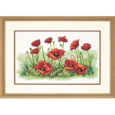 Stamped Cross Stitch: Field of Poppies