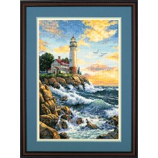 Gold: Counted Cross Stitch: Rocky Point