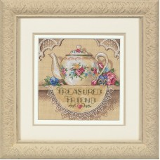 Gold Petite: Counted X St: Treasured Friend Teapot