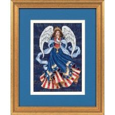 Gold Petite: Counted Cross Stitch: Patriotic Angel