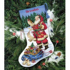 Counted Cross Stitch: Stocking: Checking His List