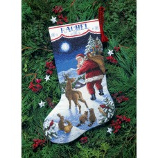 Counted Cross Stitch: Stocking: Santa's Arrival