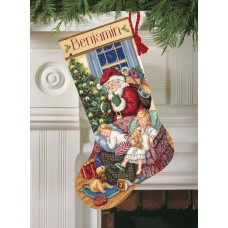 Gold: Counted Cross Stitch: Stocking: Sweet Dreams