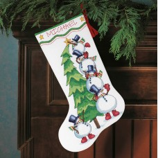 Counted Cross Stitch: Stocking: Trimming the Tree