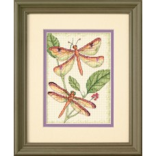 Mini Counted Cross Stitch: Dragonfly Duo