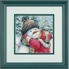 Gold Petite: Counted X Stitch: A Kiss for Snowman