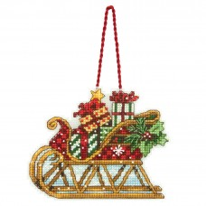 Counted Cross Stitch: Ornament: Sleigh