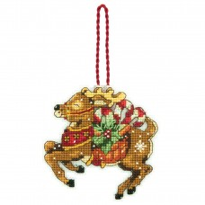 Counted Cross Stitch: Ornament: Reindeer