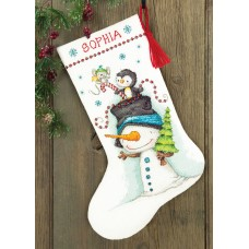 Counted Cross Stitch: Stocking: Jolly Trio