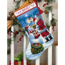 Gold: Counted Cross Stitch Stocking: Holiday Glow