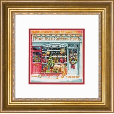 Counted Cross Stitch Kit: Gold Petites: Coffee Shoppe