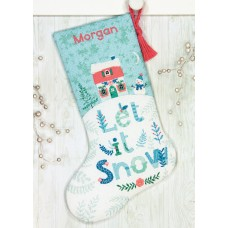 Counted Cross Stitch Kit: Stocking: Holiday Home