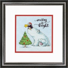 Counted Cross Stitch: Merry & Bright Bear