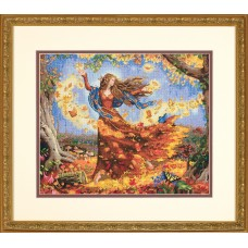 Gold: Counted Cross Stitch: Fall Fairy