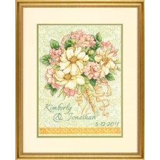 Gold: Counted Cross Stitch: Wedding Record: Bouquet