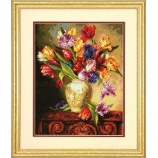 Gold: Counted Cross Stitch: Parrot Tulips