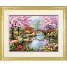 Gold: Counted Cross Stitch: Japanese Garden
