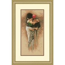 Gold: Counted Cross Stitch: The Rose