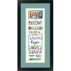 Counted Cross Stitch: Love Is