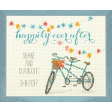 Counted Cross Stitch: Wedding Record: Happily Ever After