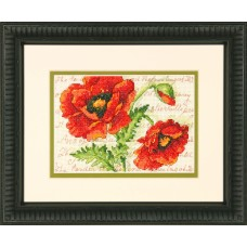 Counted Cross Stitch: Poppy Pair