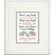 Counted Cross Stitch Kit: Birth Record: Family