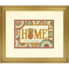 Counted Cross Stitch Kit: Pineapple Home
