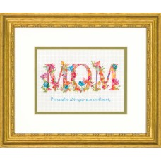 Counted Cross Stitch Kit: Mom