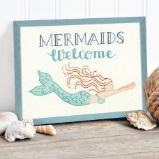 Embroidery Kit: Crewel: Mermaids Welcome