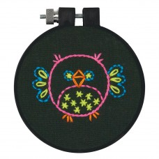 Embroidery Kit with Hoop: Bird