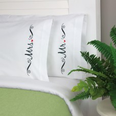 Embroidery Kit: Mr & Mrs Pillow Cases