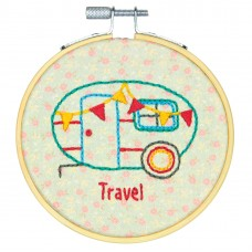 Embroidery Kit with Hoop: Crewel: Camper
